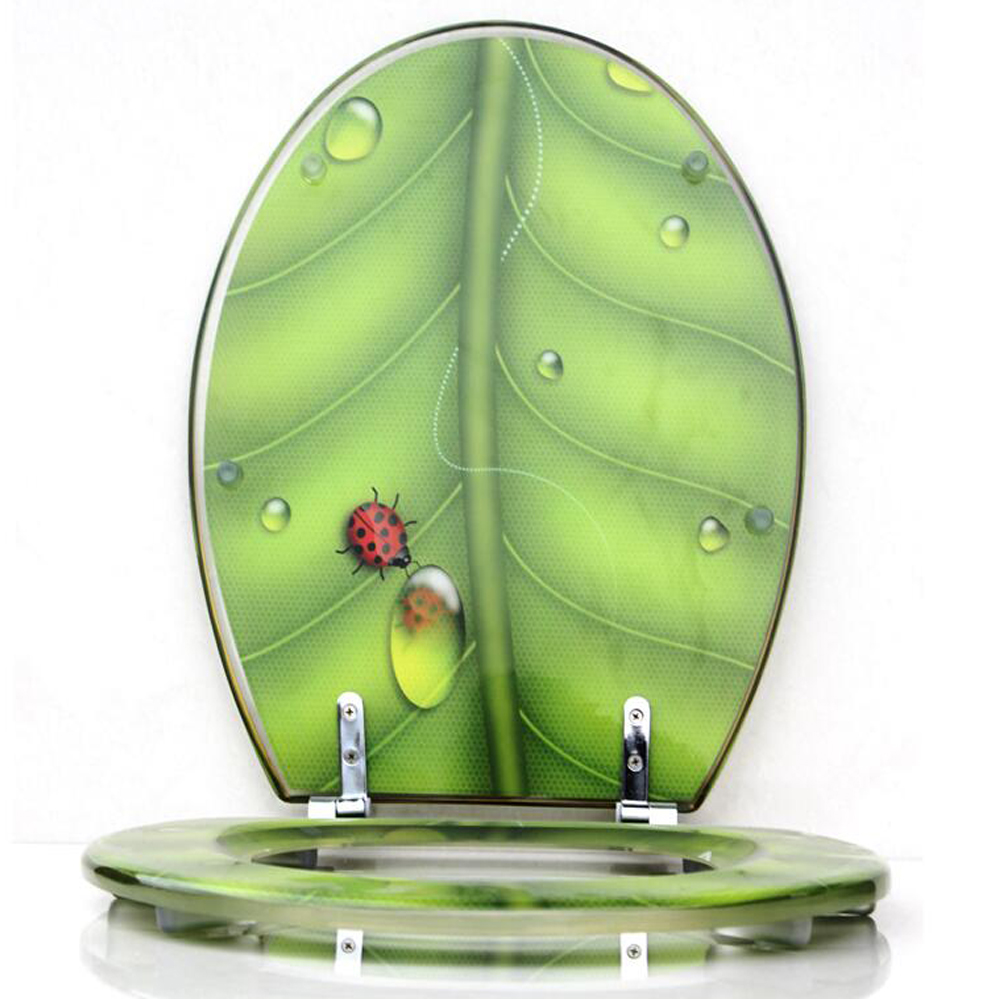 48 38cm High Grade Beautiful Green Resin Toilet Seat Cover