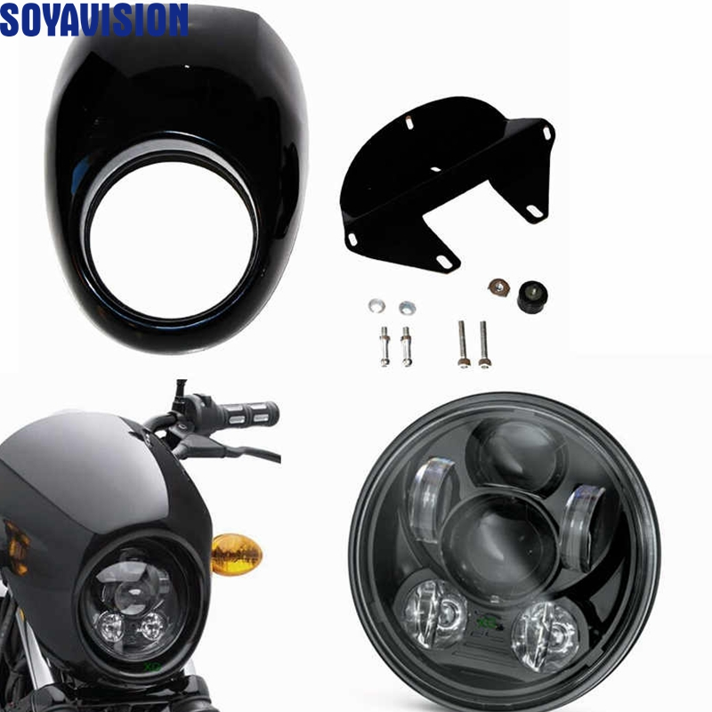 Moto Accessories 5 75 5 3 4 inch Headlight and Fairing Front Cowl Fork Mount For