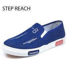 STEPREACH Brand Fashion ladies's canvas informal Shoes Drilling Canvas Platform Ladies Casual Flats Loafers sapato feminino zapatos