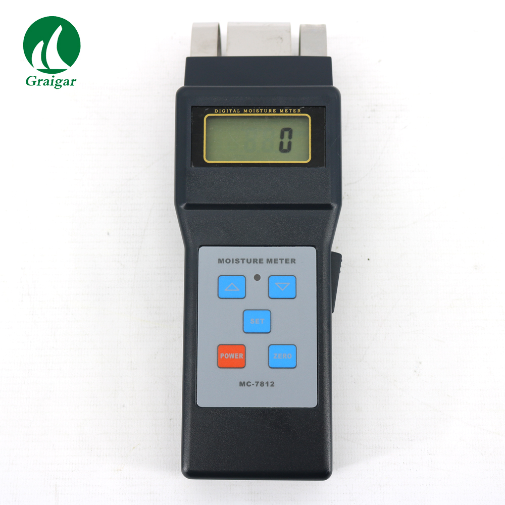 MC7812 Moisture Meter for Wood Materials Tobacco, Cotton paper, building, soil and other fibre materials