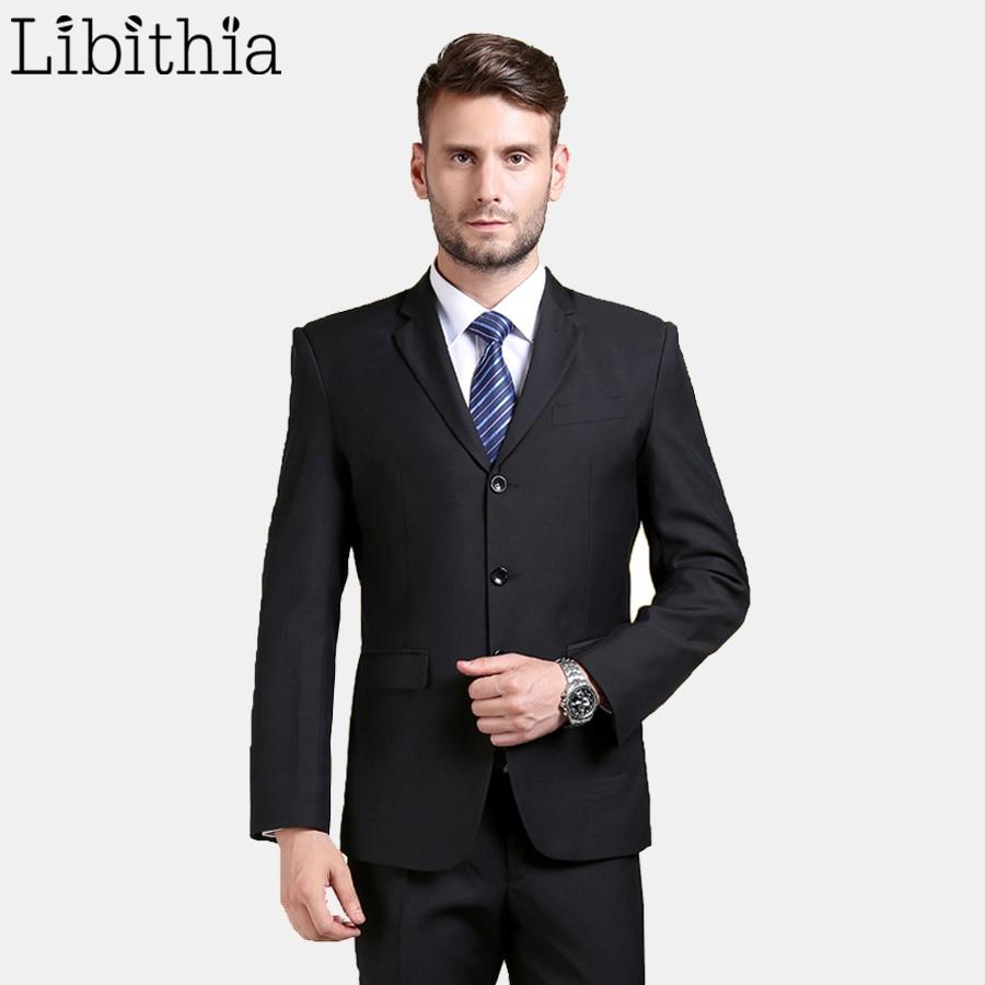 (Jaket + Celana) Baru Kedatangan Kerja Pria Jas Superior Tiga Tombol - Pakaian Pria