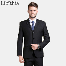 (Jackets+Pants) New Arrival Work Men Suit Superior Three Buttons Slim Fit Tuxedo Brand Fashion Dress Costume Wedding Blazer B067
