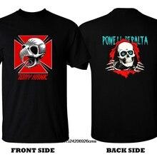70d701386 Funny Men t shirt white t-shirt tshirts Black tee Powell Peralta Tony Hawk  Skateboard
