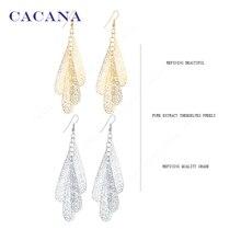 CACANA  Dangle Long Earrings For Women Hollow Slim Line Pattern Bijouterie Hot Sale No.A600 A601