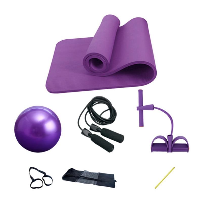 Yoga Mat Set Of 4pcs 10mm Fitness Gym Yoga Ball Ballon Fitball Rope Skipping Pilates Ball Exercise Mat Yoga Set Yoga Mat Set Yoga Matexercise Mat Aliexpress