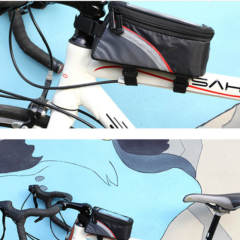 BICYCLE BAGS CYCLING BIKE FRAME IPHONE BAGS HOLDER PANNIER MOBILE ...