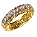 Beautiful Wedding Rings gold plated with cubic zircon finger Ring high quality engagement rings for women Free shipping