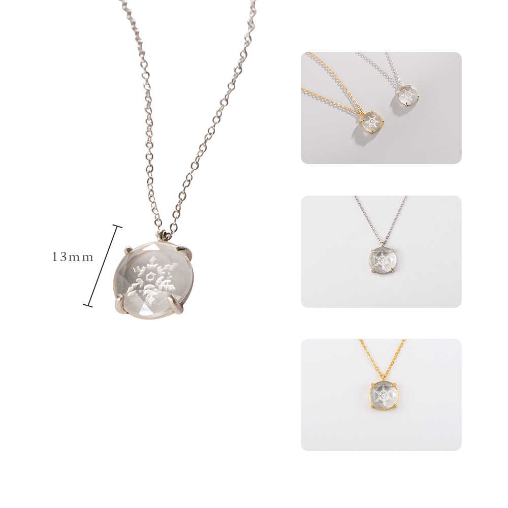 Image 3 - Thaya Snow Flower Carved Pendant Necklace s925 Silver Edelweiss Crystal Elegant Friendship Charm for Women Simple Dainty Jewelry-in Necklaces from Jewelry & Accessories