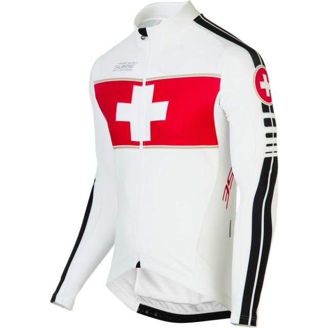 4b6a7e2fce 2018 Suíça Equipe Camisa de Ciclismo Manga Longa Roupas Bicicleta Roupas  Ciclismo Maillot MTB Jersey triathlon