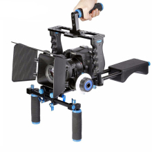 DSLR Rig Video Stabilizer Shoulder Mount Rig+Matte Box+Follow Focus+Dslr Cage for Canon Nikon Sony DSLR Camera Video Camcorder ulanzi u grip pro triple shoe mount video stabilizer handle video grip camera phone video rig kit for nikon canon iphone x 8 7
