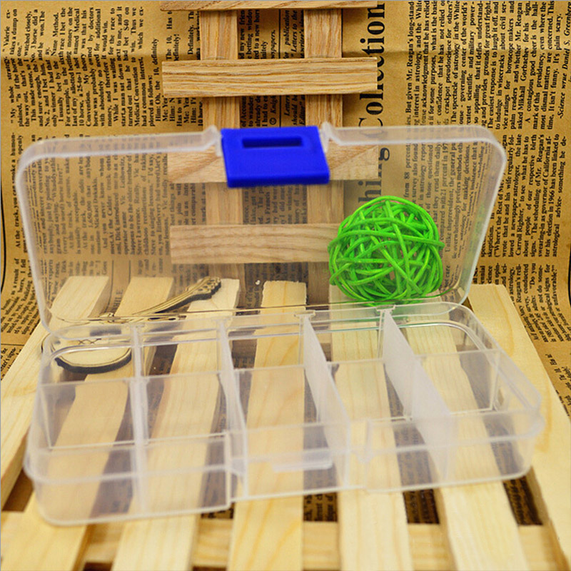 Creative 10 Grid Detachable Transparent Plastic Box Stylish Cosmetic Nail Art Makeup Jewelry Beads Accessories Storage Tools