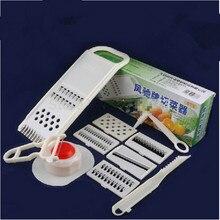 Retail 1 Unidades Multifunción Cocina Herramientas Vegetal Fruta Slicer Peeler Cortador Rallador Shredder