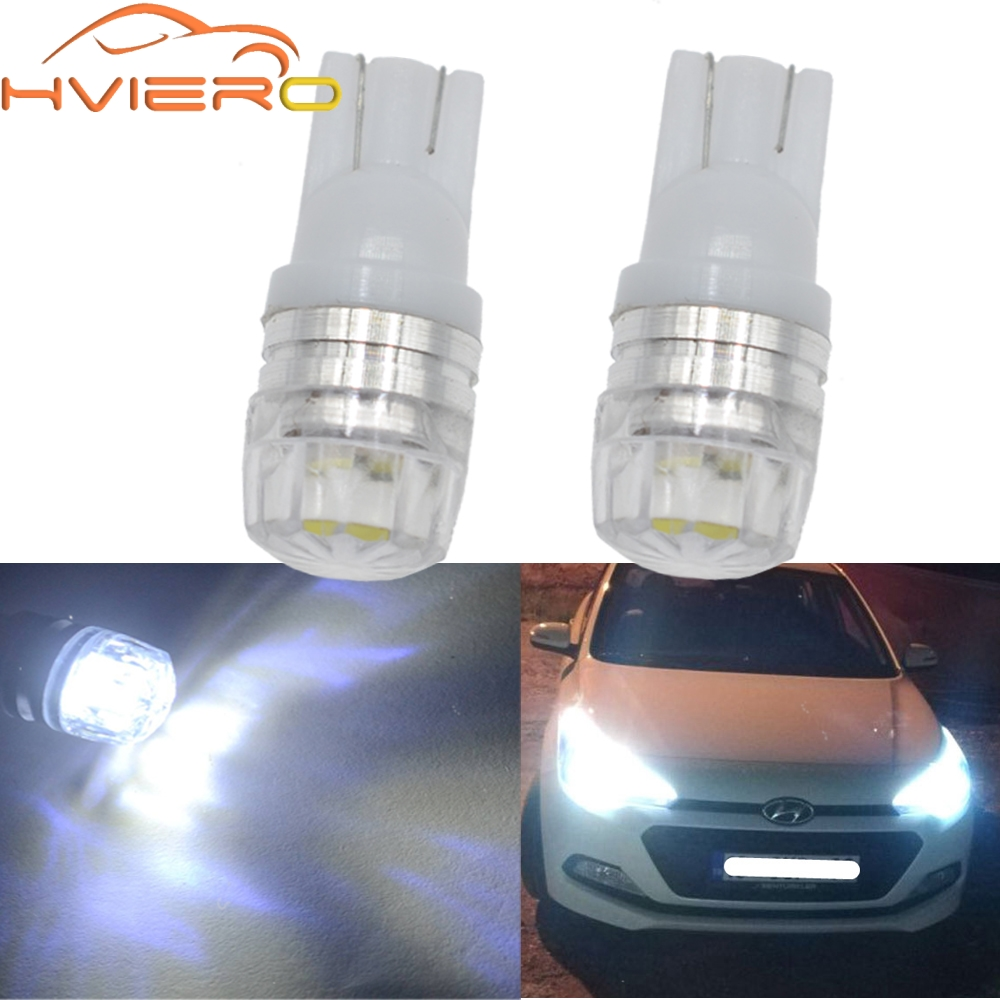 2X T10 w5w 194 Blue White Car Led Parking Bulb Auto Led Wedge Turn Signal Light Side Marker Lamp Tail light backup bulb DC 12V