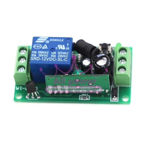 Draadloze Afstandsbediening 12 V RF Afstandsbediening Schakelaar 12 V 10A 1CH Zender met Ontvanger 315 Mhz/433 Mhz - 5