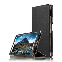 High Quality Genuine Real Leather Stand Shell Skin Cover Manget Smart Sleep Case For Lenovo Tab4