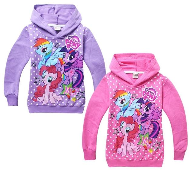 Retail Hot Girl Hoodies Clothing Spring Hoody Girls Children Outerwear Cartoon Little Pony Horse Jackets Coat 3-10y stock - Kids & Baby World store