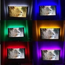 LED Night Light Strip String DC5V With USB Port Cable 50CM 1M 2M 3M 4M 5M USB LED strip light lamp SMD 3528 for TV PC Laptop