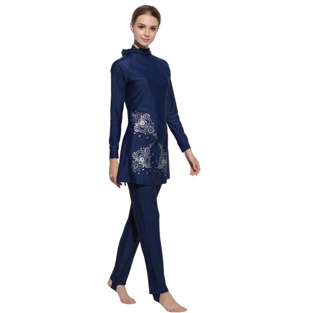 Badpak Fashion.2017 Muslim Swimwear Badpak Women Islamic Swimming Clothes Muslim
