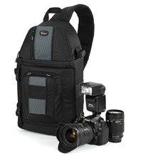 Genuine lowepro slingshot 202 aw mochila mochila para canon nikon dslr cámara fotográfica portátil a prueba de agua + weather cover negro