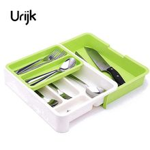 Urijk separados Vajilla acabado cajón organizador caja de almacenamiento  cuchillo y Tenedores Palillos cuchara cocina almacenamiento 6f26659c2986