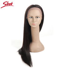 Sleek Glueless Full Lace Human Hair Wigs For Black Women Brazilian Straight Remy Hair Lace Wig 18 Inch Free Shipping ALINA