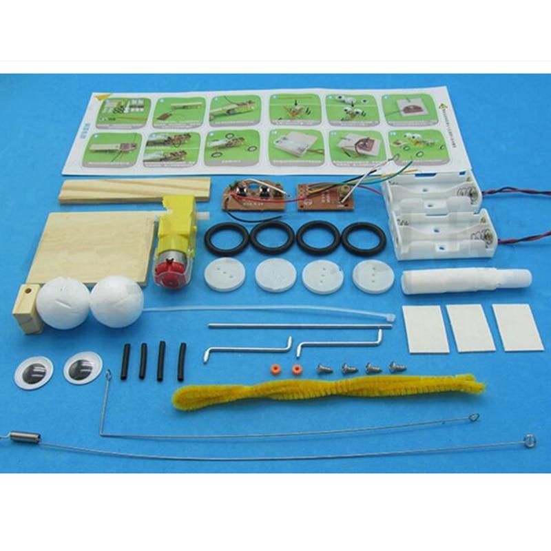Izvedba eksperimentalnog eksperimenta Happyxuan Diy Telecontrol Robot - Izgradnja igračke - Foto 6