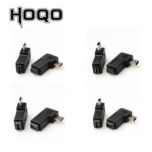 Image 3 - 미니 usb micro usb 어댑터 90도 직각 미니 usb 마이크로 usb 남성 동기화 데이터 충전 어댑터 커넥터
