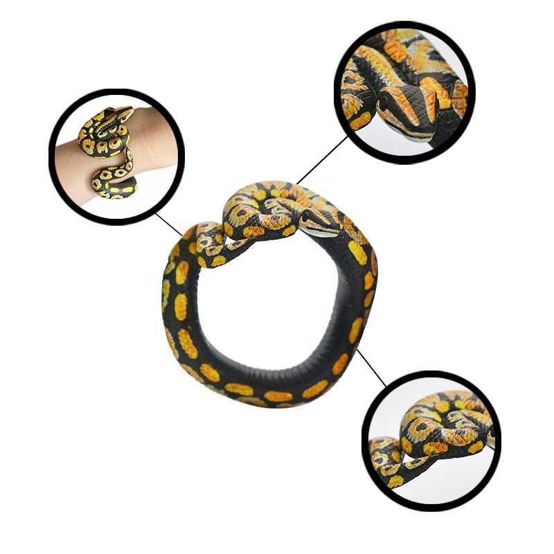 Animal Model Accessories Children's Toys Simulation Snake Shaped Bracelet Cobra Rattlesnake Funny Toy Practical Joke Toys TOY142