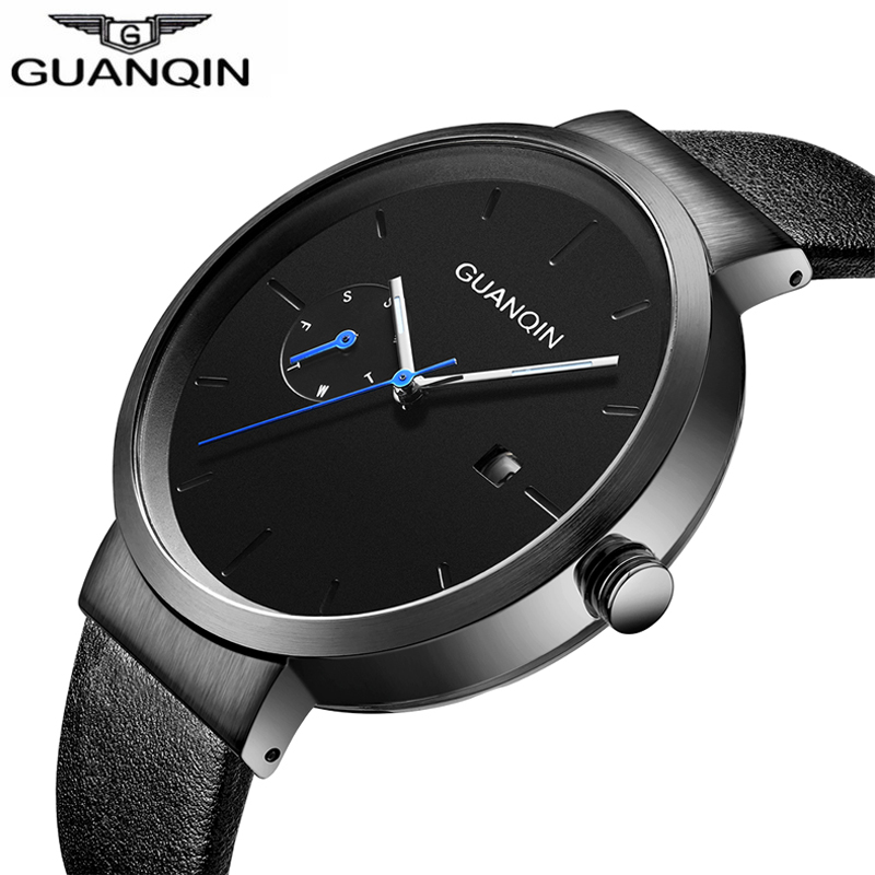 GUANQIN GS19107 watches men luxury brand Top Small Dial Women Men's Designer Quartz Watch Male Watch relogio masculino 2018 oulm mens designer watches luxury watch male quartz watch 3 small dials leather strap wristwatch relogio masculino