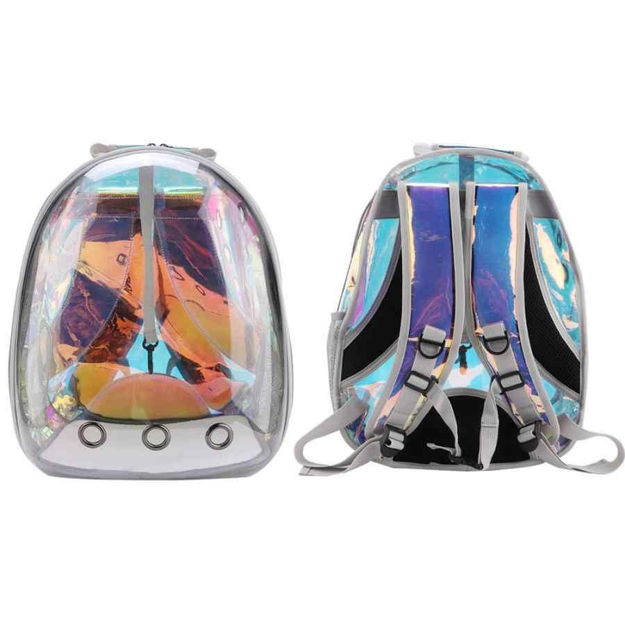 Портативный Открытый дышащий маленький переноска для домашних животных собака кошка сумка Модный Лазерный Дизайн Путешествия пространство рюкзак капсулы