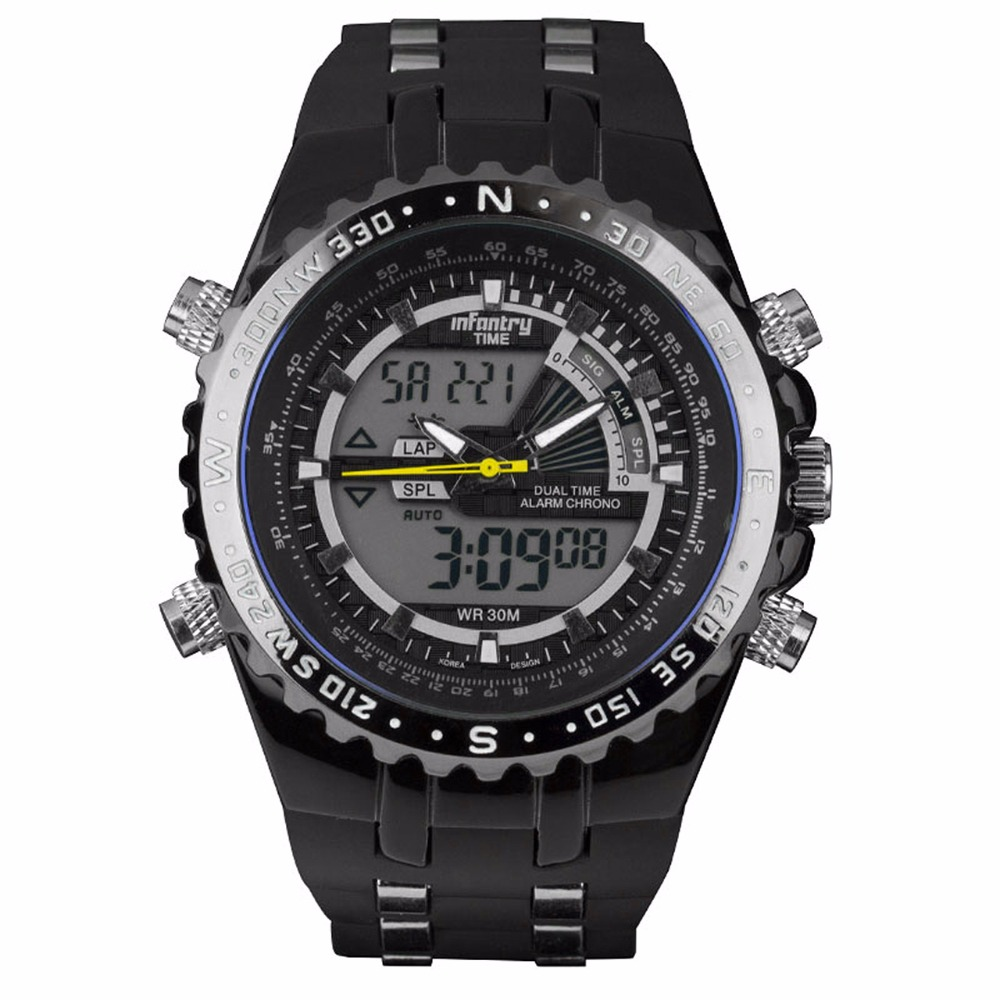 INFANTRY Mężczyźni wielofunkcyjny zegarek kwarcowy Pasek gumowy - Męskie zegarki - Zdjęcie 3