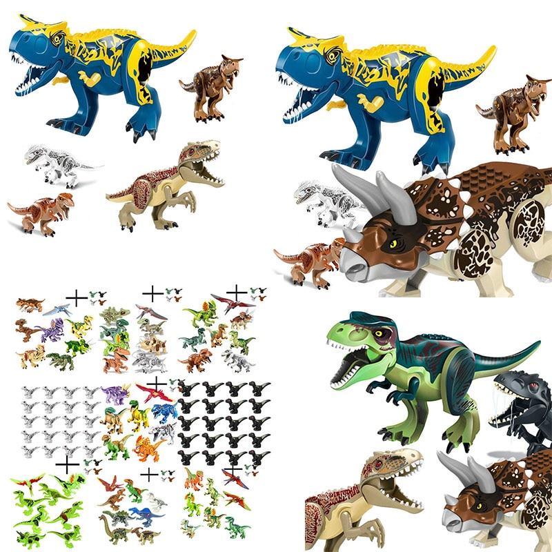 Building Block Toy Set Figure Indoraptor Velociraptor Jurassic Dinosaur Triceratop Indomirus T-Rex World Compatible With