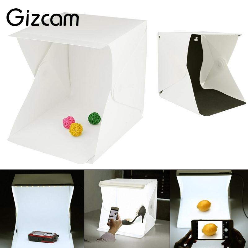 Gizcam Mini Dobrável Flexível Dobrável Photo Studio Fotografia Tiro Kits Caixa de Luz Fotografia Profissional Caixa de Fundo