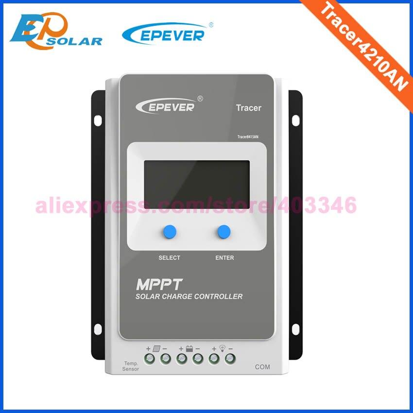 Трассировщик epever MPPT 40A 30A 20A 10A солнечное зарядное устройство контроллер lcd 12V24V авто высокая эффективность Регулятор солнечной 4210AN 3210AN 2210AN - Цвет: Only Tracer4210AN