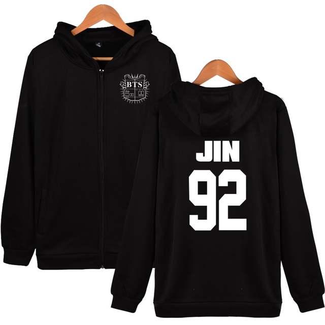 Kpop BTS Womens Winter Jackets And Coats 97 JUNG KOOK Bangtan Boys Hoodies  Women Plus Size f74b90346553