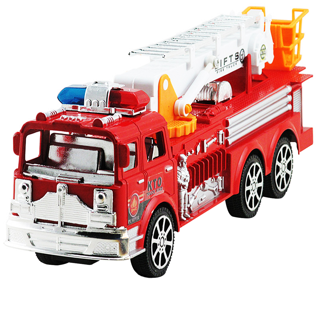Pretend Play Firemen Large Size Artificial Aerial Ladder Truck Fire Fighting Truck Model For Kids Learning Playing Toys For Kids