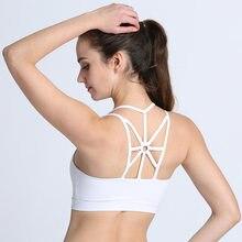 7ed1cf5af06da 2018 Hot Sale Women Sports Bra Female Cross Bras Seamless Active Wear High  Impact Sporty Top Push Up Yoga Bra Athletic Vest