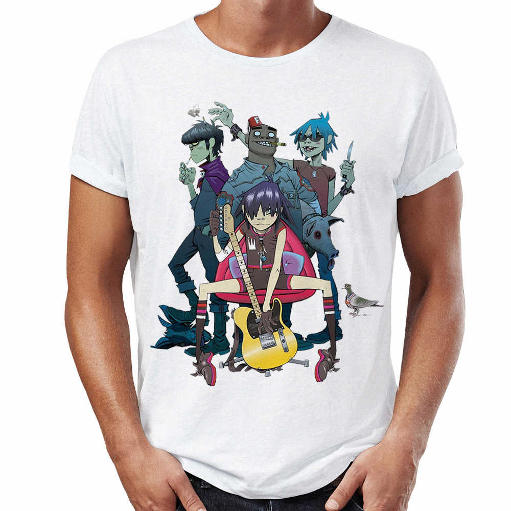 c75ff09b04ad1 ... 2018 New Funny Male T-shirts Personality design Gorillaz Japanese  Streetwear Shirt Print Mens Tee ...
