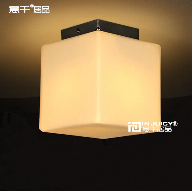 Ceiling Lights & Fans Ceiling Lights Imported From Abroad Cube Sugar Milk Glass Ceiling Lamp Childrens Room Aisle Corridor Cafe Bar Hall Shop Club Balcony Bedroom Stores Lighting Decor Bright In Colour