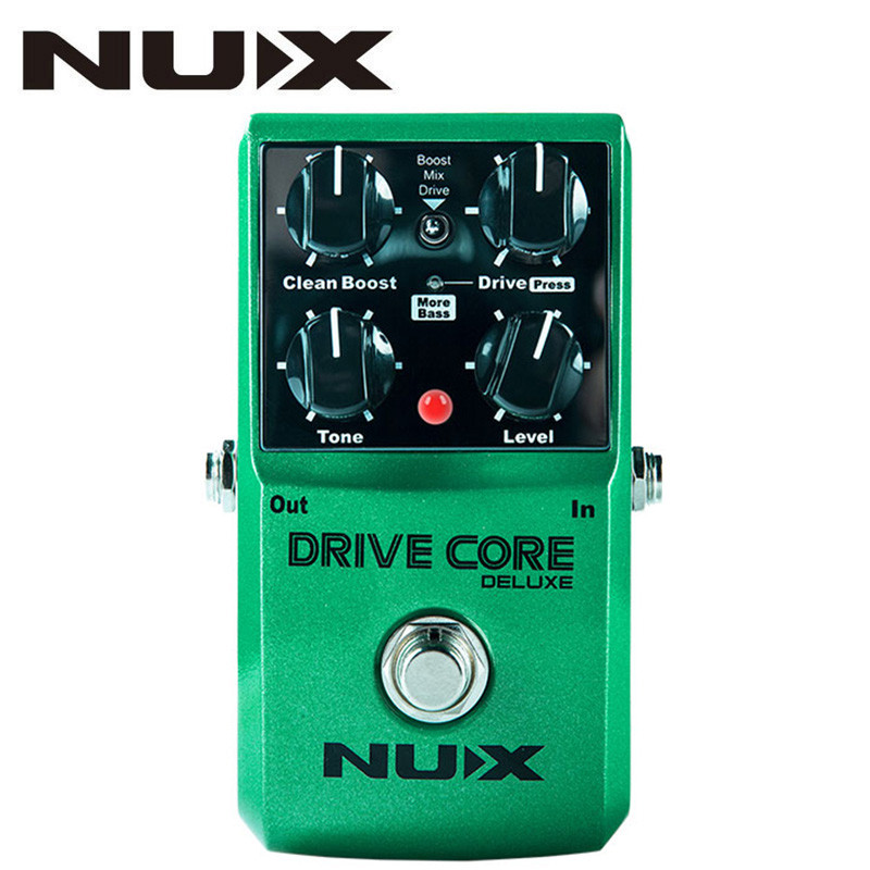 NUX Upgraded Drive Core Deluxe Overdrive Guitar Effects Blues Overdrive Pedal Drive Booster Guitar Pedal True Bypass User Manual new pegasus overdrive pedal guitar effects pedal high power drive booster tube overload stompbox true bypass free shipping