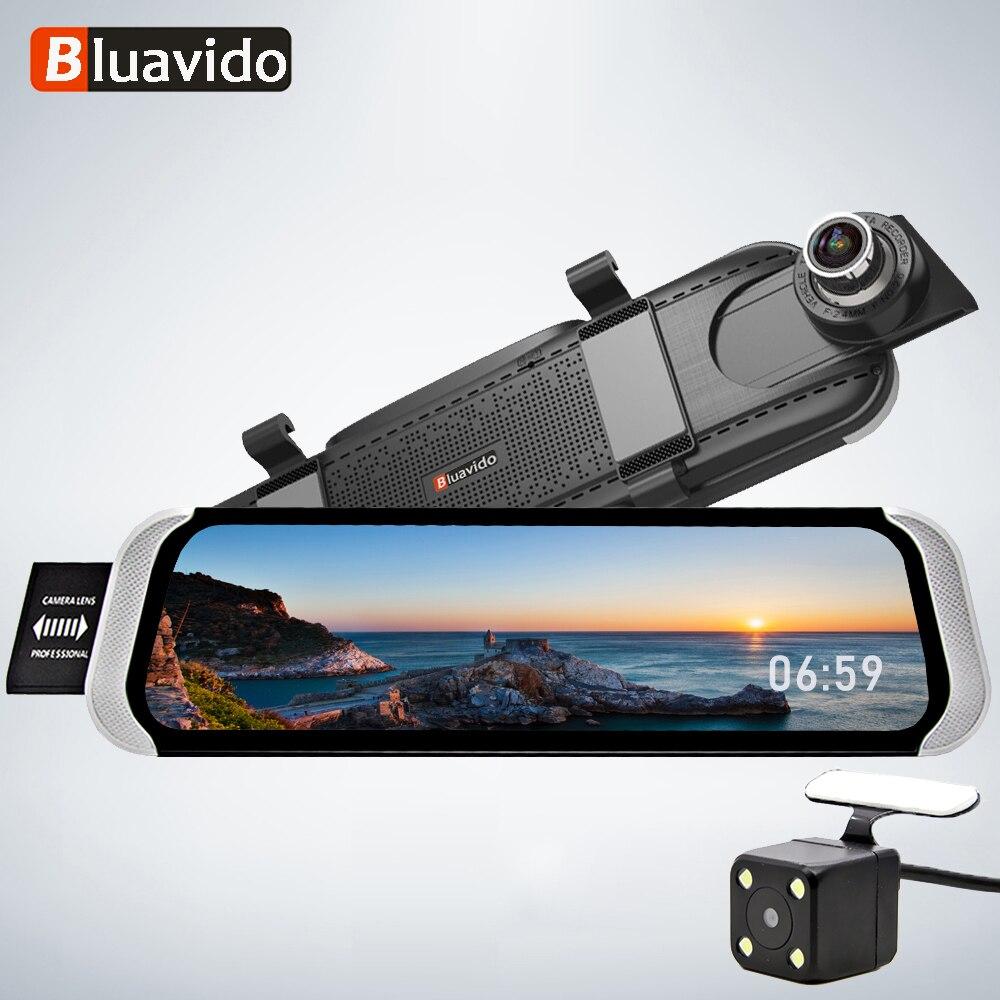 Bluavido 4G FHD 1080P Car DVR 10 Rearview mirror android GPS Navi WiFi auto video registrator