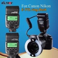 Viltrox JY-670C/N Câmera LEVOU TTL Macro Ring Flash Light Speedlite para Canon 1300D 800D 77D 5D II Nikon D90 D7500 D5600 810D D5