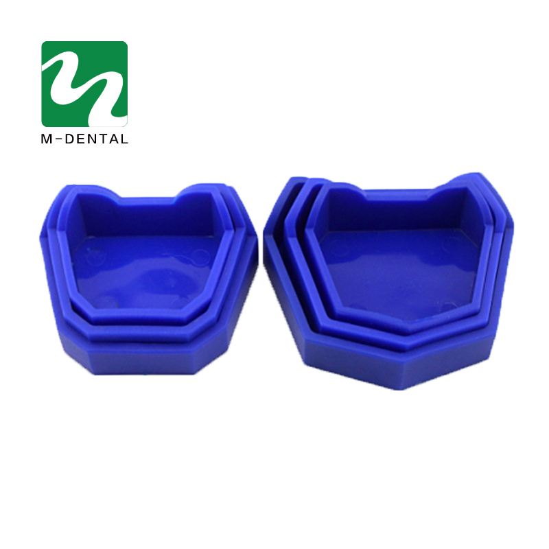3 Size Dental Model Base Set Dental Mold Plaster Base Denture Tray Dental Lab Former Base Kit Oral Care Hygiene
