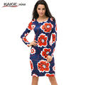 2017 Spring Fashion Mini Maxi Dress Party Dresses Hot Sale High-quality Printing Long-Sleeves Round-Neck No Decoration Cute 1709