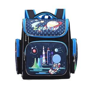 Image 2 - 학교 어린이를위한 새 가방 학교 배낭 소년 3d 동물 공룡 배낭 어린이 satchel 우주 학교 가방 mochila escolar