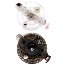 Plastic Ice Fishing Reels Fly Fishing Tackle Round Wheel Mini Carp Fishing Reel-2F