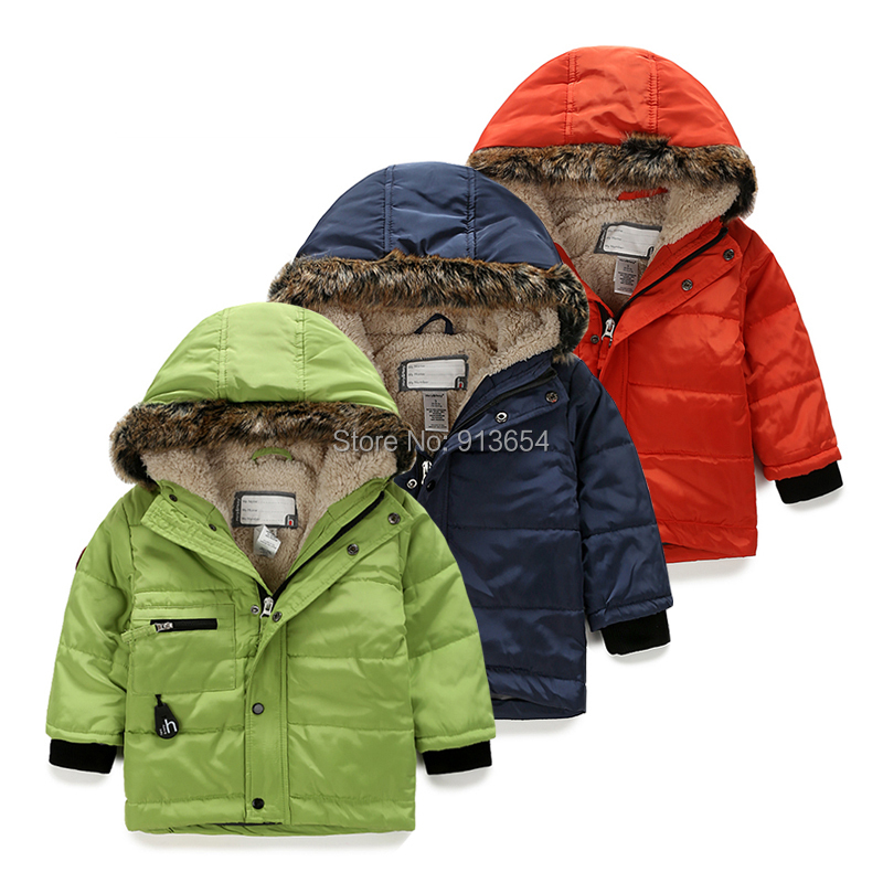 2015 winter jacket children clothing baby boys plus velvet thick coat girls Cotton warm parka kids jackets - Sunny Baby fashion Store store