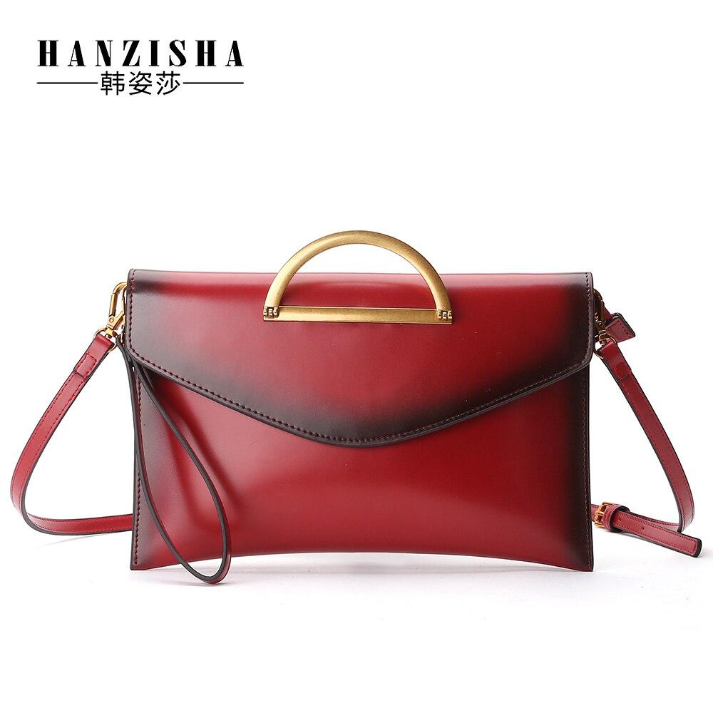 ФОТО HANZISHA  new leather ladies handbags fashion European and American style large-capacity shoulder Messenger hand ladies bags