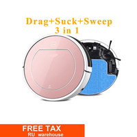 2017 New V7S PRO Robot Vacuum Cleaner For Home Wet Dry Clean Self Charge DHL Freeshipping