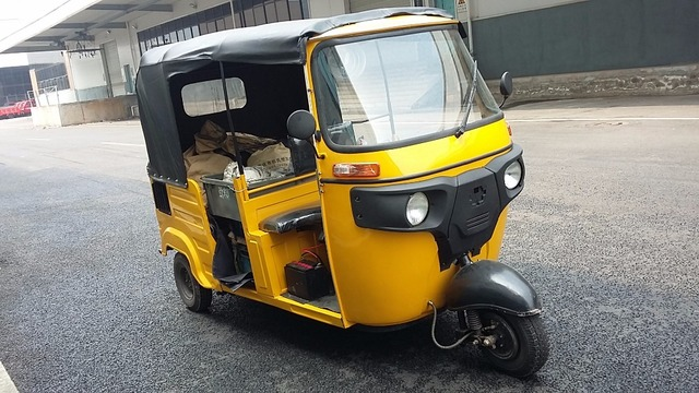 US $1445 0 |bajaj new bike auto rickshaw three wheel air cooled engine with  shaft transmission passenger tricycle for sale-in ATV Parts & Accessories